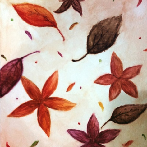 Autumn Leaves, Watercolor Painting